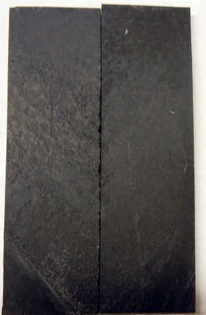 "Solid Black Inlace Acrylester sc1 (2 pc) Knife Scales 1/4"" x 1 1/2"" x 5"" - 2342"