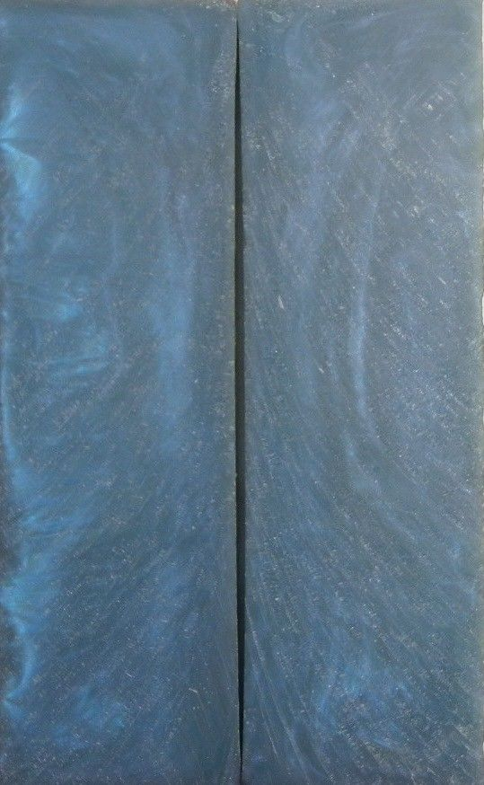 "Blue  Acrylester #19 (2 pc) Knife Scales 1/4"" x 1 1/2"" x 5"" - 1443"