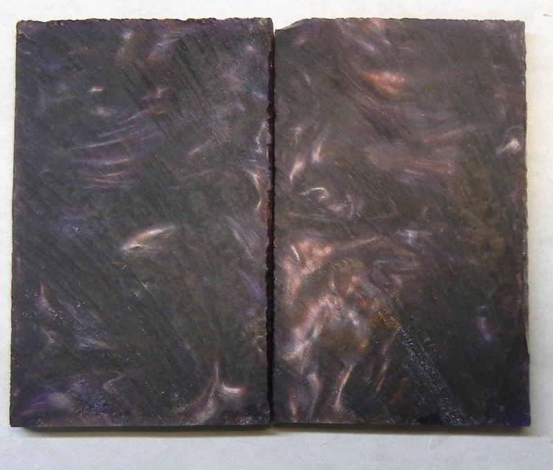 "Bronze & Violet Acrylester #02 (2 pc) Knife Scales 1/4"" x 1 1/2"" x 3"" - 1974"