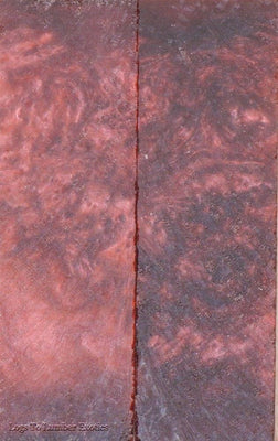 Red Russet Acrylester #09 2 pc Knife Scale  1/4