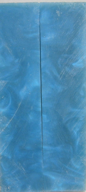 "Blue  Acrylester #19 (2 pc) Knife Scales 3/8"" x 1 1/2"" x 6"" 5423"