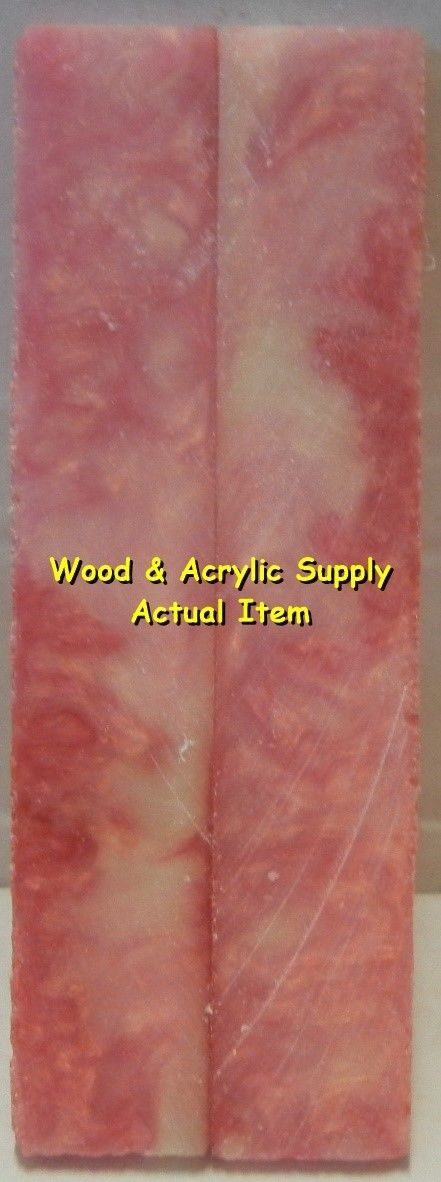 "Pink Sky Acrylester #29 (2 pc) Knife Scales 3/16"" x 3/4"" x 5"" 5922 - Wood Acrylic Supply"