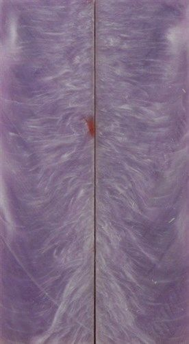 "Violet  Inlace Acrylester #08 2 pc Knife Scales  3/8"" x 1 1/2"" x 6"" 7PBIA082001"