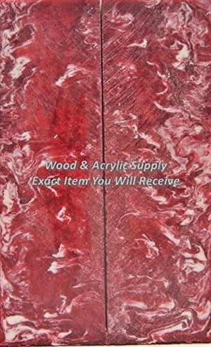 "Indiana U IU Acrylester (2 pc) Knife Scales 1/4"" x 2"" x 6"" 5659 - Wood Acrylic Supply"