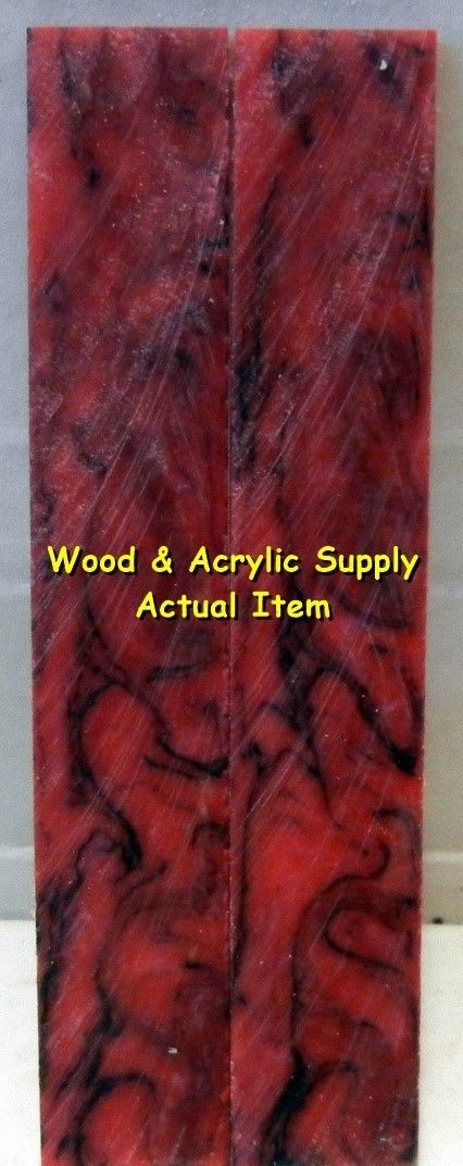 "Jelly Roll Acrylester #66 (2 pc) Knife Scales 3/16"" x 3/4"" x 5"" 5920 - Wood Acrylic Supply"