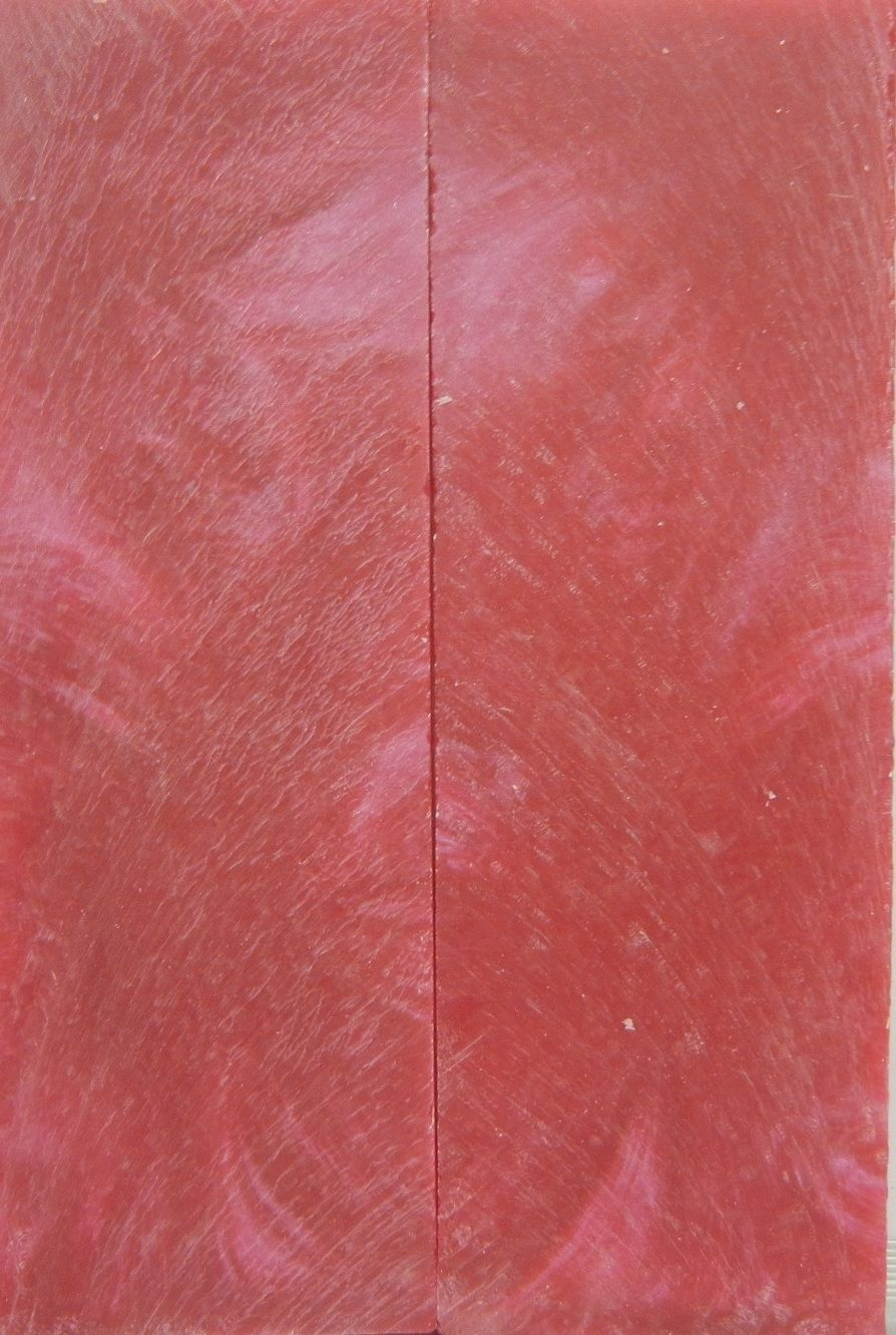 "Pink Sky Inlace Acrylester #29 (2 pc) Straight Razor Scales  3/16""x2""x6""    002"