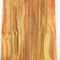 "Box Elder Flamed/Stabilized (2 pc) Razor Knife Scales 3/16"" x 2"" x 6"" - 2396"