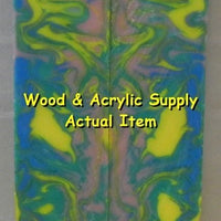 "Pastel Dream Acrylester #100 (2 pc) Knife Scales 3/16"" x 3/4"" x 5"" 5902 - Wood Acrylic Supply"