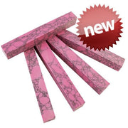 "SimStone - 05 Pink Marble Pen Blank 3/4"" x 5"" (1 pc) Unique"