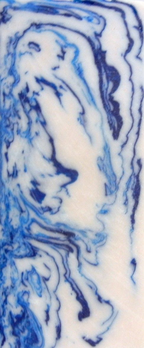 Blue & White Acrylester #36 (1 pc) Inlay/Thin 3/16 x 2 x 5 - 8115 - Wood Acrylic Supply