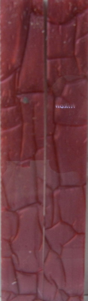 "Burgundy Designed Acrylic (2 pc) Knife Scales 3/16"" x 3/4"" x 6"" - 0422"