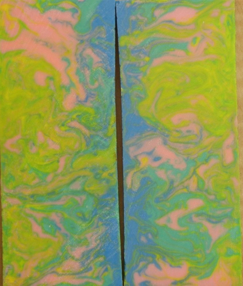 "Pastel Dream Inlace Acrylester #100 2 pc Pistol/Knife Scale  1/4""x2""x5""      001"