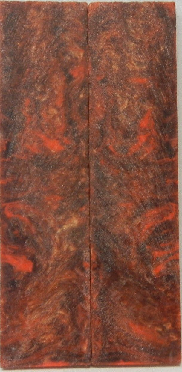 "Bronze & Orange Acrylester (2 pc) Knife Scales 1/4"" x 1 1/4"" x 6"" - 7829"