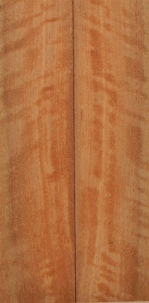 "Satinwood Pyinma  (2 pc) Knife Scales  1/4""x1 1/2""x6""    002"