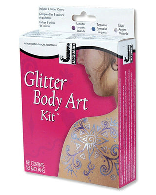 Glitter Body Art Kit Non-permanent body art with a shimmery twist! by Jacquard - Wood Acrylic Supply