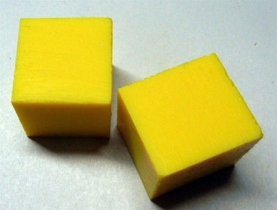Solid Yellow Inlace Acrylester sc5 4(1 pc) Cube 1 1/2