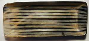 "Polished Buffalo Horn Flattened Tray 9"" L x 4"" W x 3/4"" D - Wood Acrylic Supply"