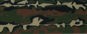 "Woodland Camo BTW126KSMINI Acrylic (2 pc) Knife Scale Mini 3/16"" x 1"" x 6"" Woodland Camo BTW126KSMINI - Wood Acrylic Supply"