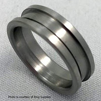 Ring Core Stainless Steel JDG - Width 6mm Size 6 1/2 - JDGS1-065-6 - Wood Acrylic Supply