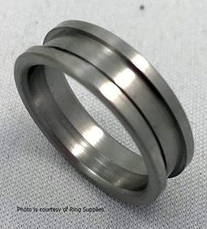 Ring Core Stainless Steel JDG - Width 6mm Size 7 - JDGS1-07-6 - Wood Acrylic Supply