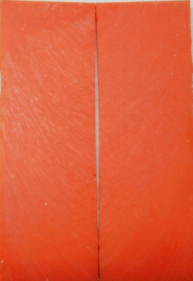 Solid Orange Inlace Acrylester sc4 12(2 pc) Knife Scale 1/4
