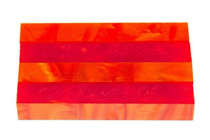 "Blood Orange Acrylic Pen Blank 3/4""x3/4""x5"" BTWPBM1103 (1 pc) - Wood Acrylic Supply"