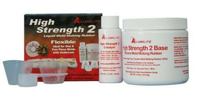 Alumilite's High Strength 2 silicone mold making rubber 1 lb