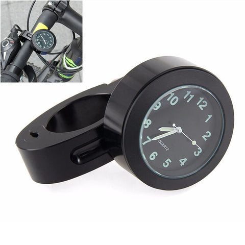 "Mini Waterproof 7/8"" Motorcycle Motorbike Accessory Handbar Mount Digital Clock"