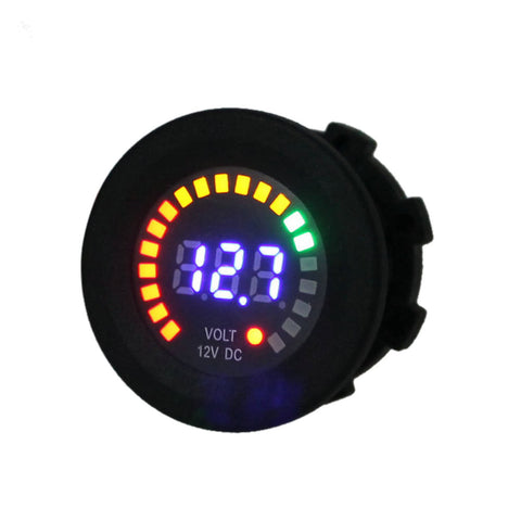 DC 12V Car Motorcycle Boat Digital LED Panel Voltage Display Volt Meter Voltmeter