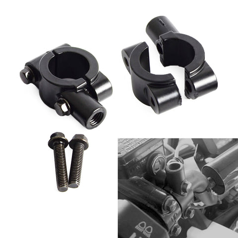 "Motorcycle 7/8""(22mm) Handle Bar Mirror Mount Holder Clamp Adaptor 8/10MM Thread For Honda Yamaha Harley KTM Suzuki ATV Scooter"