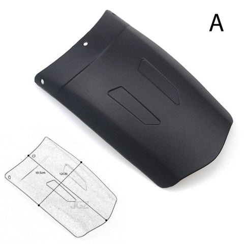 Black Motorcycle Front Rear Mudguard Extender Fender Splash Extension Pad for KTM Ducati Kawasaki Benelli Honda Yamaha BMW Parts