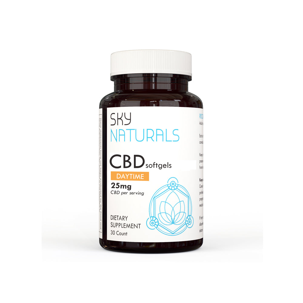 Sky Naturals Morning Gel Caps with Curcumin - 750mg CBD