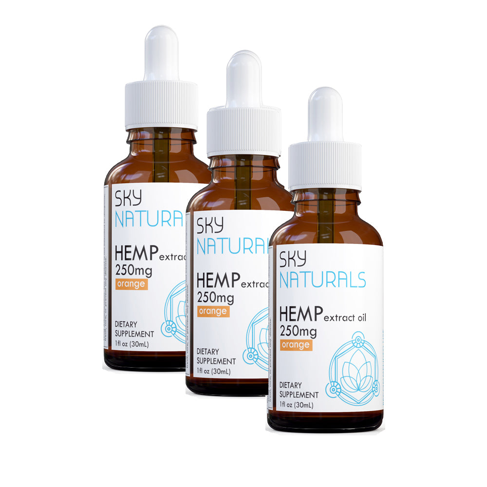 Sky Naturals CBD 500mg 1oz Hemp Extract Oil Tincture 3-Pack