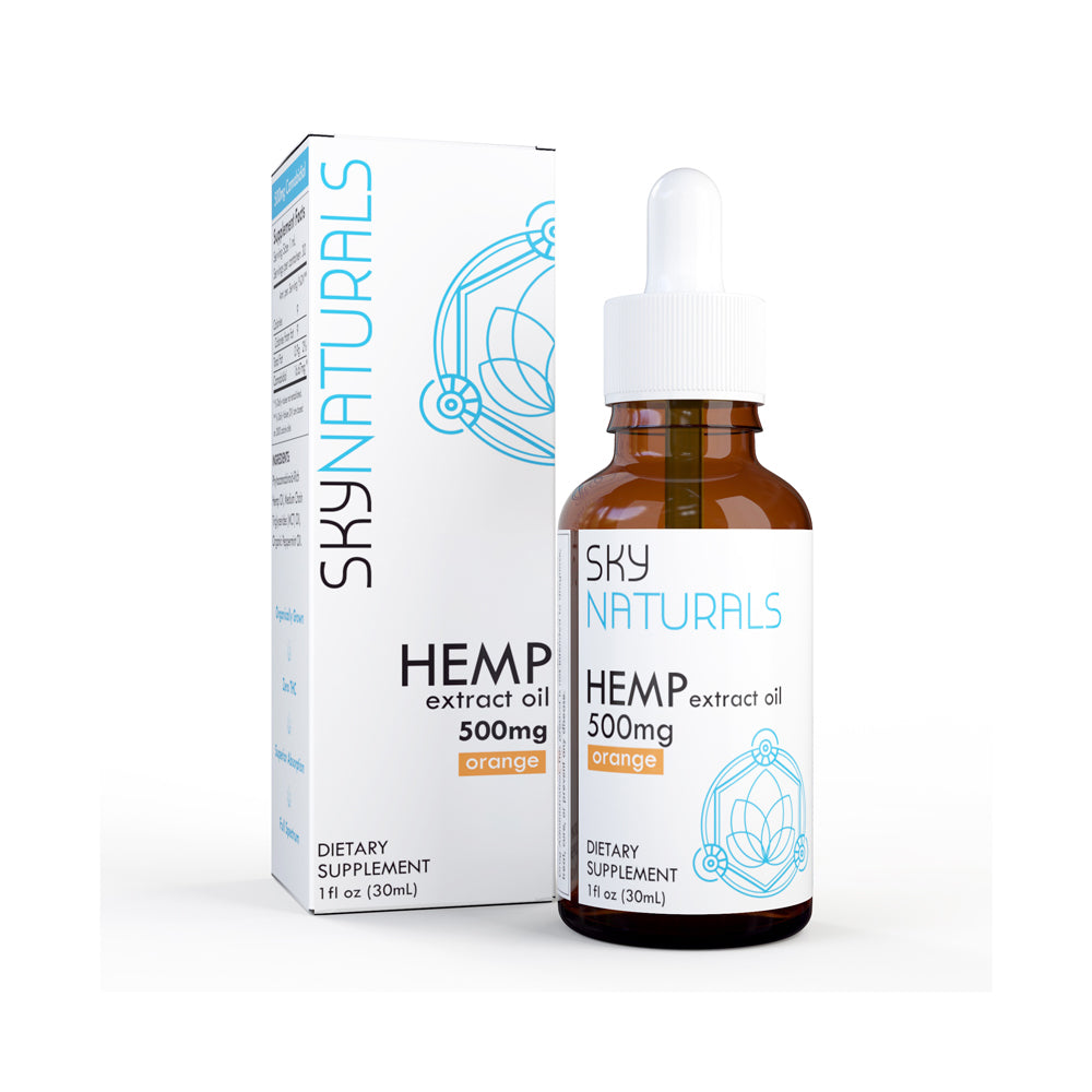 Sky Naturals 500mg Tincture and Gel Cap Gift Box