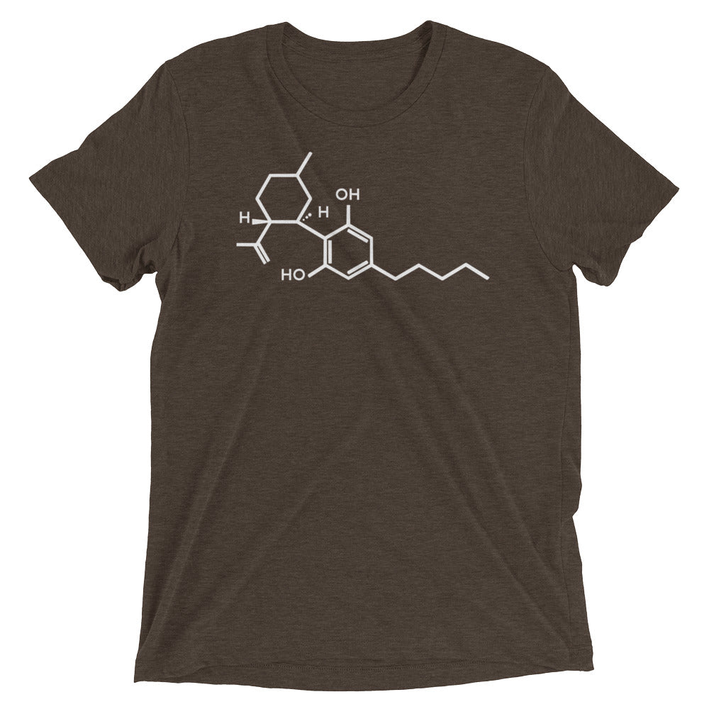 Sky Naturals CBD Molecule Short Sleeve Fitted T-shirt