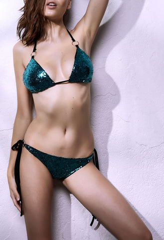 Sheeny Sequins Bikini Set