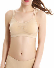 Padded sweat absorbent sports bra