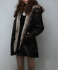 Image of Hooded coat Thicken Faux fur Lining tops