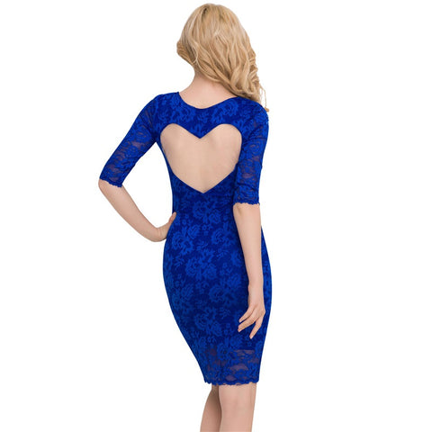 Lovey-Dovey Lace Heart Dress