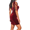 Image of Velvet Strapless Night Club Removable Collar dress
