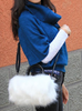 Image of Plush Faux Fur Handbag
