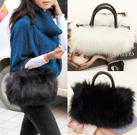 Plush Faux Fur Handbag