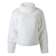 White soft plush sweater