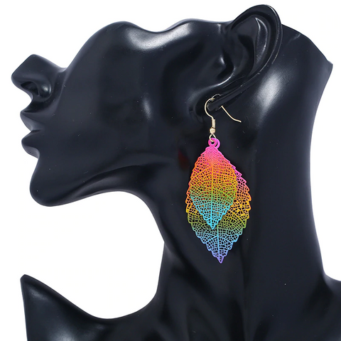 Luxury Vintage Leaves Drop Earrings