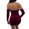 Image of Lace-up V cut mini dress