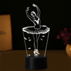 Image of 3D LED Ballet Girl 7-color Night Lights Table Lamp