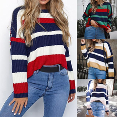 Waspystar Style Striped Over-sized Sweater