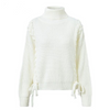 Image of Casual Side lace up Turtleneck Loose pullover