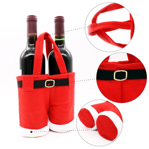 Santa Pants Wine Bottle, Candy, and Pepsi Bag handbag