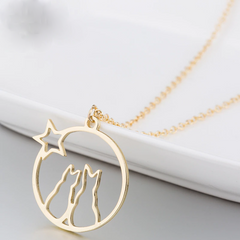 Captivating Star Cat Necklace